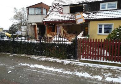 Wybuch gazu na ul. Granicznej. Interweniował helikopter LPR